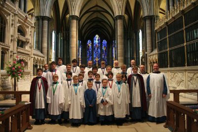 Some of the choir at salisbury in 2009